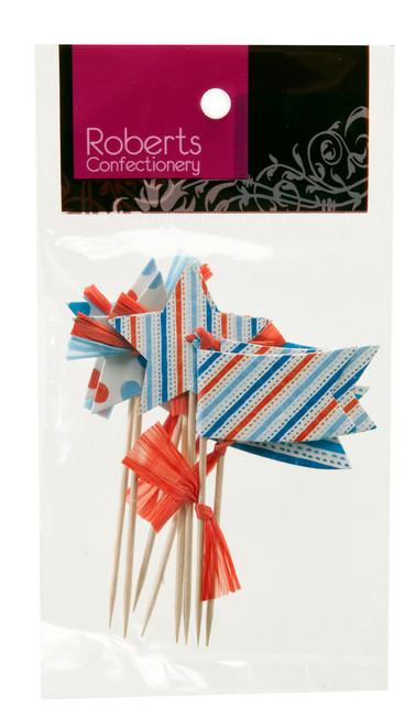 Cupcake Topper - Stars & Flags Pkt 8
