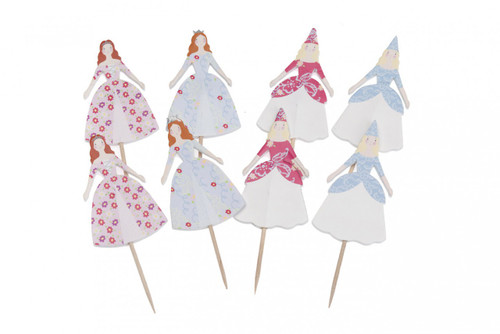 Cupcake Topper - Princess Pkt 8