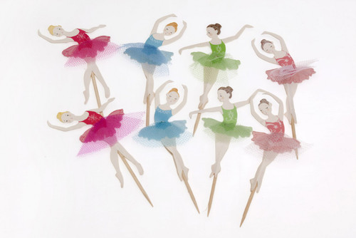 Cupcake Topper - Ballet Dancer Pkt 8