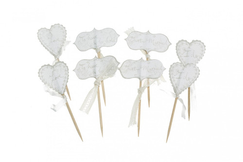 Cupcake Topper - I Do Pkt 8