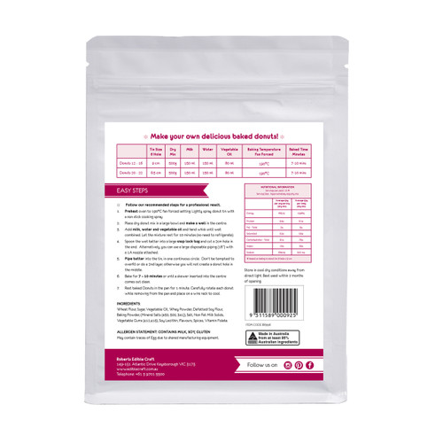 Baked Donut Mix 500g
