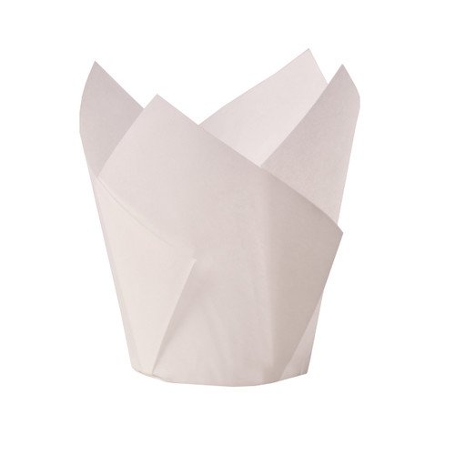 Muffin Papers - White  Pkt 100