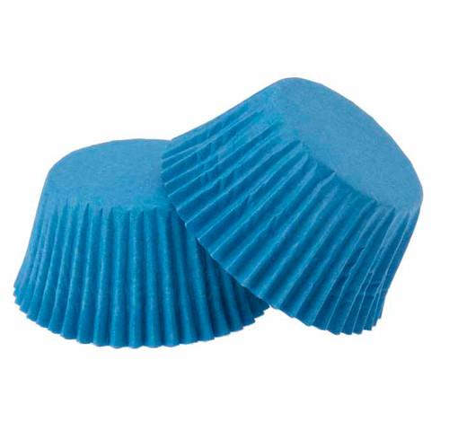 Paper Cupcake Case Blue Pkt 100