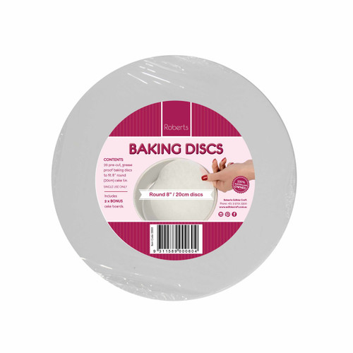"8"" Baking Discs Pkt 20"
