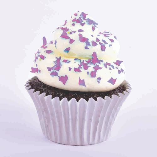 Bulk 200g -  Edible Crafting Glitter Flakes - Purple