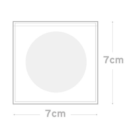 Peel & Seal Bag Pkt 100 -    7.0 x 7.0 cms