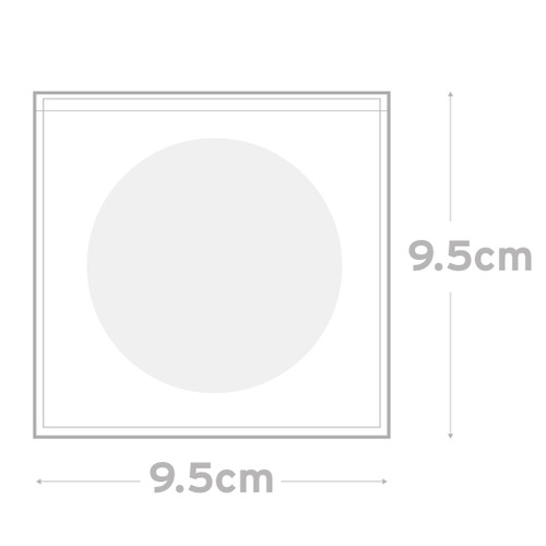 Peel & Seal Bag Pkt 100 - 9.5 x 9.5 cm