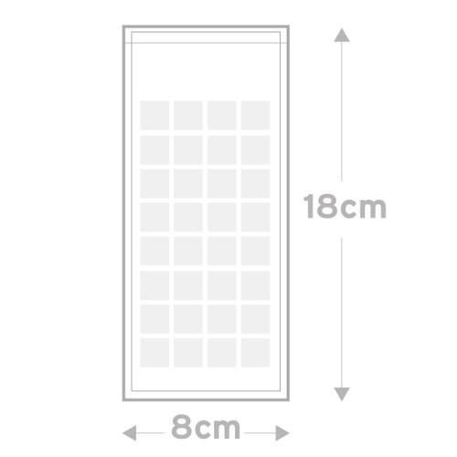 Peel & Seal Bag  Pkt 100 -  8.0 x 18.0 cms