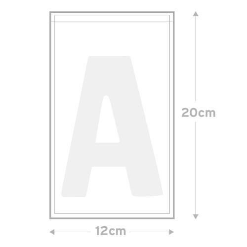 Peel & Seal Bag  Pkt 30 -  12.0 x 20.0 cms