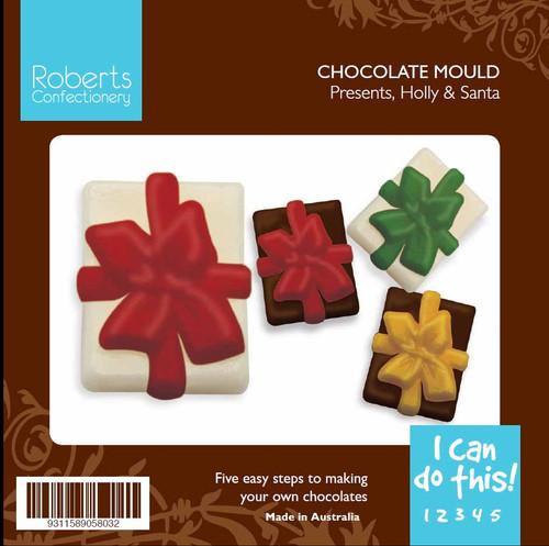 Santas, Presents and Holly - 301