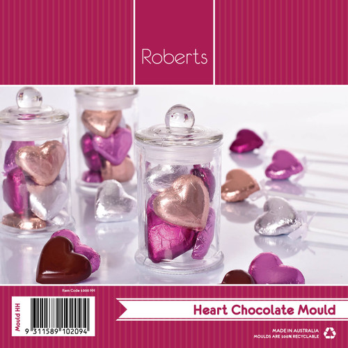 Small Plain Hearts Mould - HH