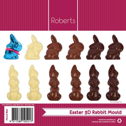 8 & 12 cm 3D Rabbit - 52