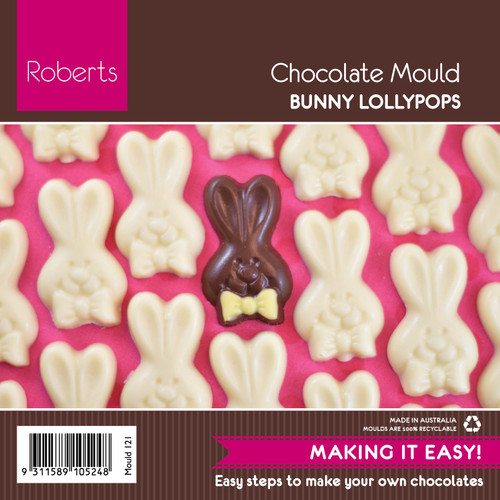 6 cm Easter Bunny Lollypop Stick - 121