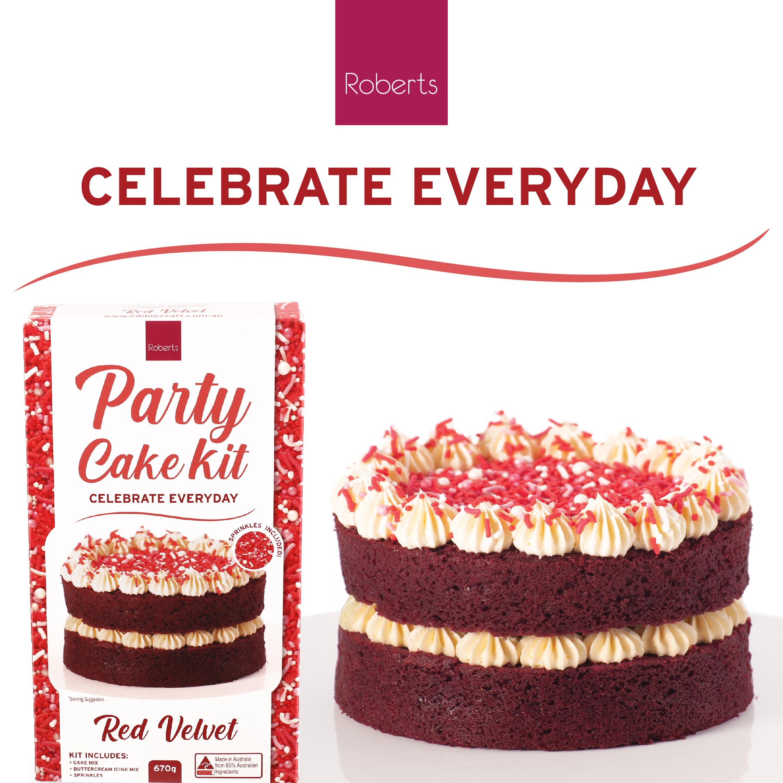 Party Cake Kit - Red Velvet