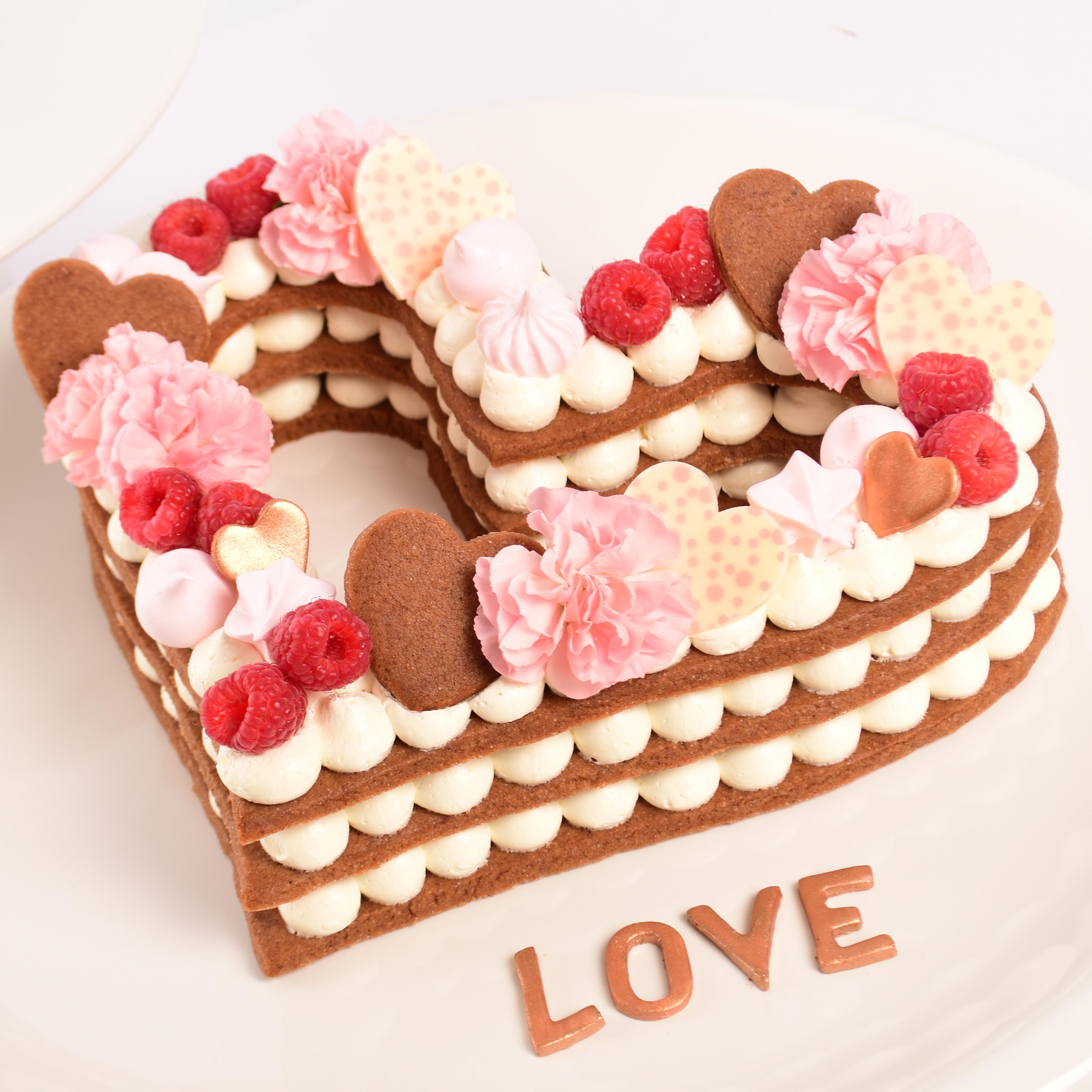 Valentines Heart Biscuit Cake