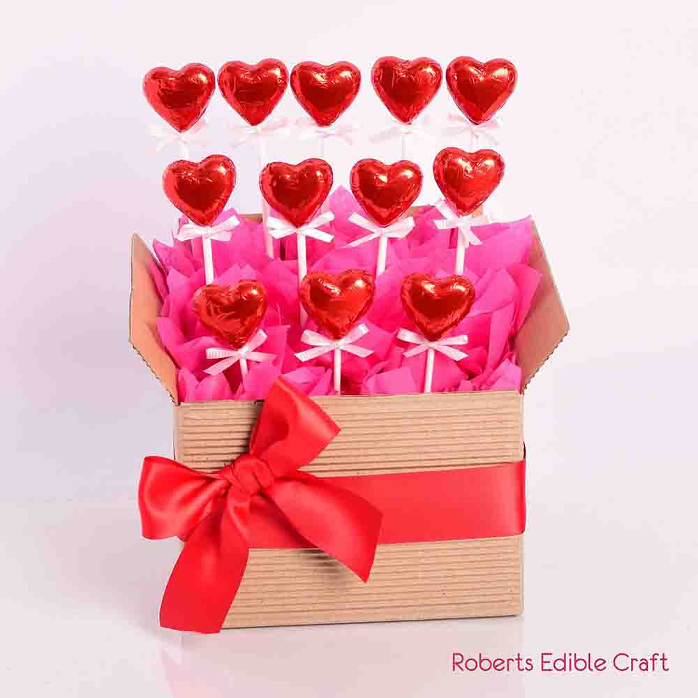 Valentines Heart Chocolates in a Box