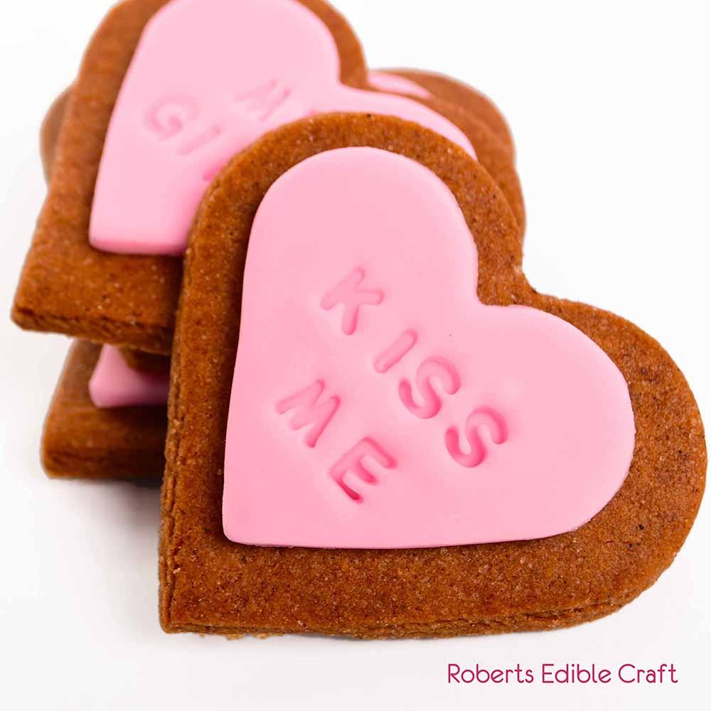 Valentines Message Cookies