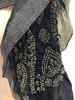 "Hand Dyed Silk Indigo Bandhani Scarf India (13"" x 76"")"