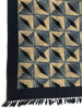 "Handmade Block Printed Natural Dyed Canvas Runner  Diamonds Rug India (30"" x 72"")"