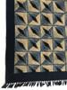 Handmade Block Printed Natural Dyed Canvas Diamonds Rug India-  2 sizes