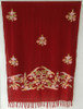 """Handwoven and Hand Embroidered Fine Woolen Shawl India (29"""" x 70"""")"""