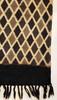"Handmade Block Printed Natural Dyed Charcoal Diamond Canvas Runner Rug India (30"" x 72"")"