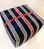 "Handmade Handwoven Cotton Ottoman 2 Guatemala (18"" x18"")"