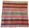"Handwoven Woolen  Frazada Rug 2 Peru (58"" x 59"")"