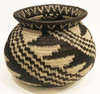 Handmade Natural Fiber Wounaan Basket 9 Panama Black Wheat