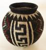 Handmade Natural Fiber Wounaan Basket 7 Panama black red mahogany  evergreen.
