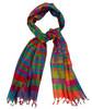 "Ikat Silk Rainbow Colors India (20"" x 68"")"