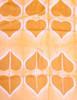 """Shibori  Silk Heart Scarf/Shawl Golden India (44"""" x  78"""")"""