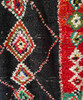 """Handwoven And Hand Knotted Vintage Pile Tribal Boucherouite Rug Diamond Morocco (37""""x 64"""")"""