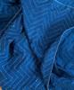 """Handmade Hand Stitched Indigo Quilt Queen India  (85"""" x 106"""")"""