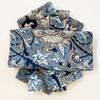 "Hand Block Printed Natural Dyed Napkins 4 India Set of 4 (18"" x 18"") blue grey, marine blue blue, indigo, taupe black and cream"
