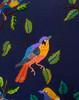 "Handwoven and Hand Embroidered Bird Pillow on Indigo Guatemala (18"" x 18"")"