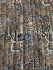 """Handmade Block Printed Natural  Dyed Quilt 1 Queen India  (95"""" x 105"""")"""