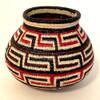"Handmade Natural Fiber Wounaan Basket Small 2 Panama  (3.5"" tall x  4""wide) Colors brick red, light tan, chocolate brown and black."