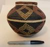"Handmade Natural Fiber Wounaan Basket 3 Panama  (6.25"" tall x  7""wide)"