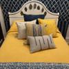 "Handmade Bandhani  Cotton Yellow Quilt Bedspread king (104"" x 105"")"
