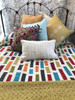 """Hand stitched Patchwork Layered Quilt Queen India  (97"""" x 106"""")"""