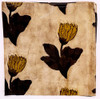 "Block Printed Natural Dyed Napkins Sepia Flower India Set of 4 (18""x 18"")"