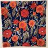 "Block Printed Natural Dyed Napkins Floral 2 India Set of 4 (18""x 18"")"