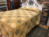 """Handmade Natural Dyed Block Print Quilt King Bedspread India (102"""" x 103"""")"""
