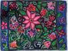"Handmade Hooked Medium Rug Recycled Clothing by Glendy Guatemala (24"" x 32"") Floral"