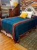 """Handwoven Handspun Woolen Coverlet Bed Spread India (96"""" x 98"""")"""