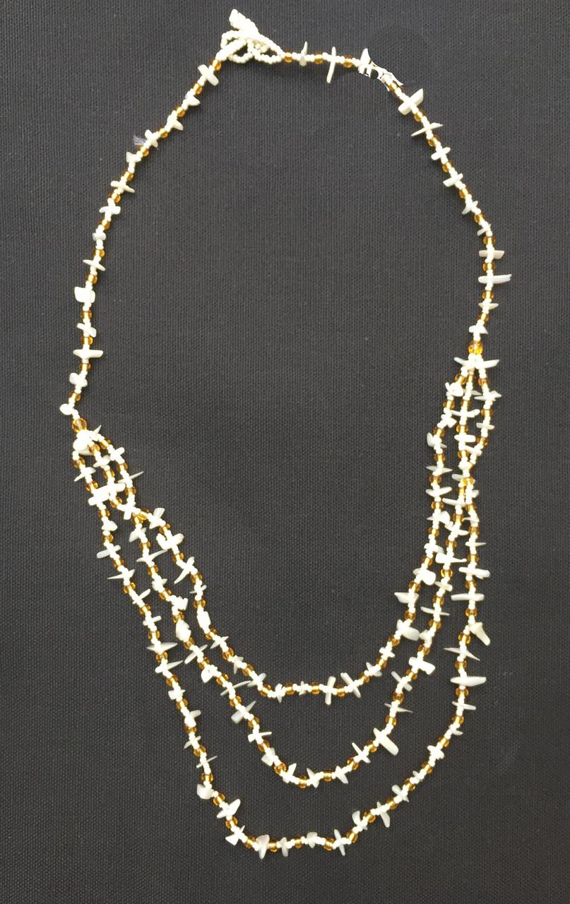 Handmade Beaded Shell Necklace