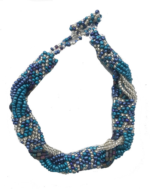 Handmade Beaded Braided Bracelet Guatemala