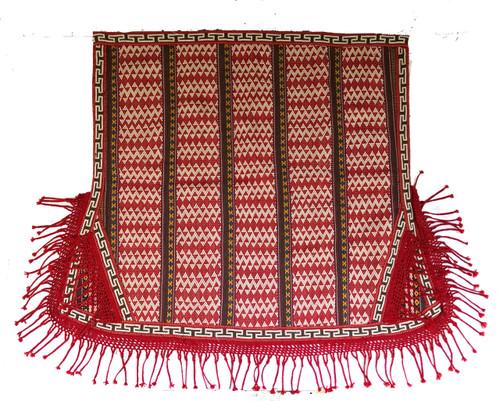 "Handwoven Wool Saddle Blanket Kyrgyzstan (44"" x 53"")"