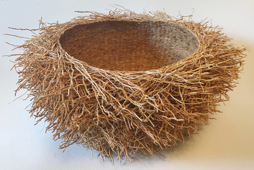 "Handmade Vetiver Basket X-Large Madagascar (8"" x 19"")"